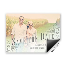 Love Declared Photo Save the Date Magnet