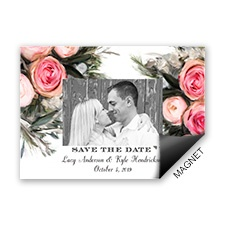 Ethereal Garden Photo Save the Date Magnet