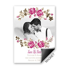 Floral Beauty Save the Date Magnet