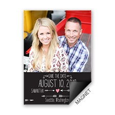 Points to Love Photo Save the Date Magnet