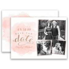 Shining Style Rose Gold Foil Modern Save the Date