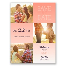 Blocks of Color Modern Save the Date