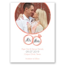 Wedding Rings Photo Save the Date