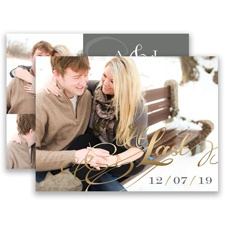 At Last Gold Foil Save the Date