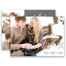 At Last Rose Gold Foil Save the Date