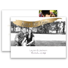 Brushed Banner Gold Foil Photo Save the Date