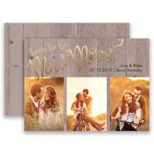 Soon to Marry Gold Foil Save the Date