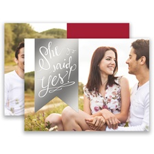 Bright Banner Silver Foil Modern Save the Date