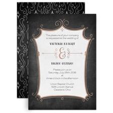 Regal Whimsy Rose Gold Foil Wedding Invitation