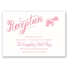 One Promise - Reception Card