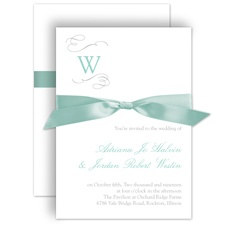 Sophisticated Swirls Wedding Invitation