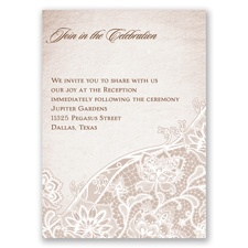 Lace Lining - Reception Card
