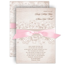 Lace Lining Wedding Invitation