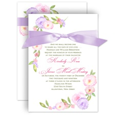 Exquisite Florals Wedding Invitation