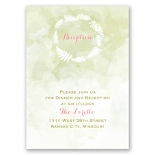 Nature's Embrace - Reception Card