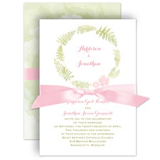 Nature's Embrace Wedding Invitation