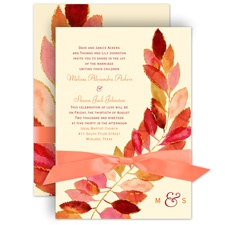 Feathered Fall Wedding Invitation