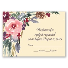 Bold Blooms - Response Card