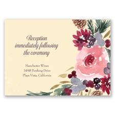 Bold Blooms - Reception Card