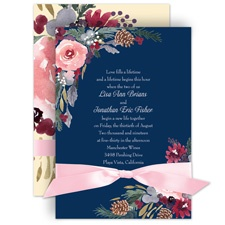 Bold Blooms Wedding Invitation