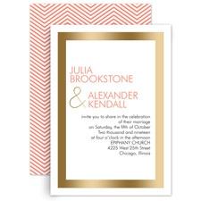 Truly Modern Gold Foil Wedding Invitation