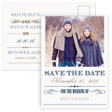 Elegant Details Modern Save the Date