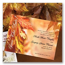 Leaves Background - Save the Date