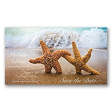 Starfish Save the Date - Magnet