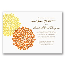 It Takes Two (Orange and Yellow) - Invitation