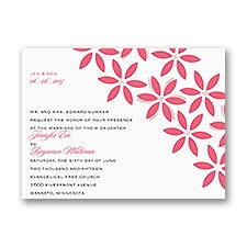 Little Posies Petite Wedding Invitation