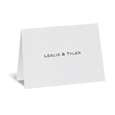 White Shimmer Thank You Card and Envelope