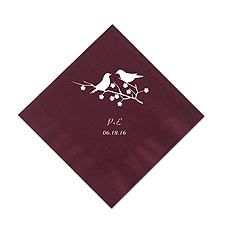 Cranberry Cocktail Napkin