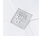 Blank Silver Embossed Rose Wedding Seal