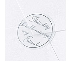 Blank Silver Friend Wedding Seal