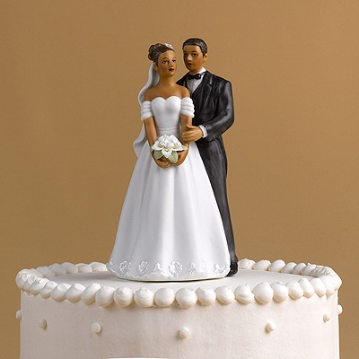 African American Couple Cake Top Invitations By Dawn