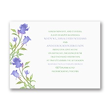 Watercolor Rosebuds - Orchid - Petite Invitation
