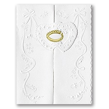 Love and Marriage White Wedding Invitation