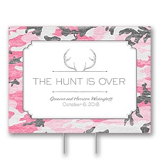 Hunter's Choice - Posie Pink - Yard Sign