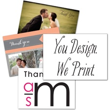 You Design, We Print - Thank You Card