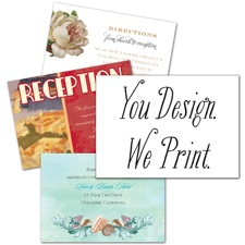 You Design, We Print - Enclosure Card