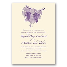 Wine Country - Ecru - Invitation