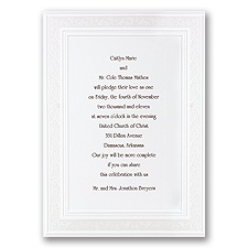 All That Shimmers Pearl White Wedding Invitation
