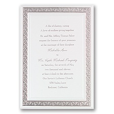 All That Shimmers Silver Wedding Invitation