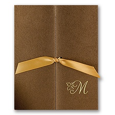 Stunning Brown Wedding Invitation