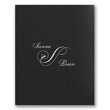 Modern Black Wedding Invitation