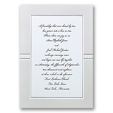 Illuminate White Wedding Invitation