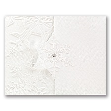Winter's Elegance Wedding Invitation