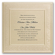 Framed in Luxury Vintage Wedding Invitation
