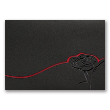 Dramatic Rose - Black and Red - invitation