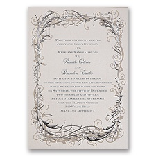 Vintage Shine Thermography Wedding Invitation